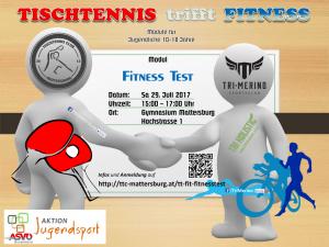 Tischtennis trifft Fitness – Modul FITNESS TEST
